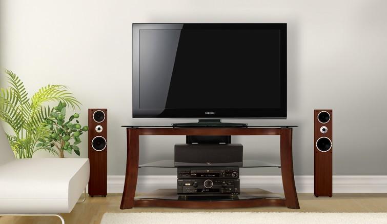 Полка под телевизор стеклянная фото